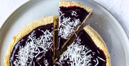 Berry Coconut Cheesecake